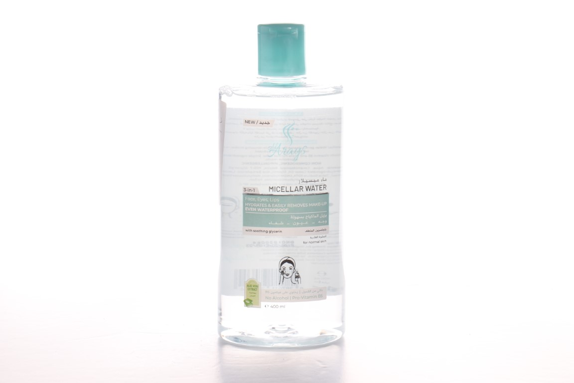 Arayes micellar water remove make-up for normal skin 400 ml
