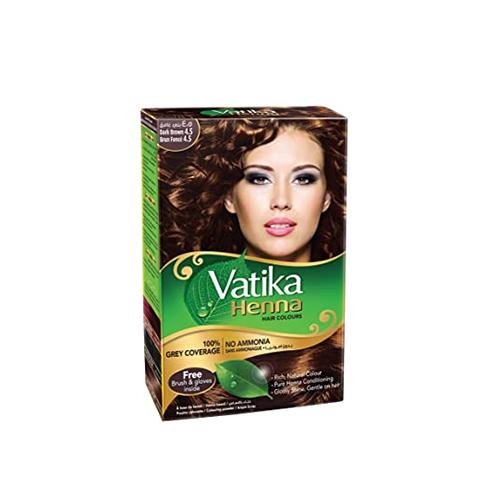 Vatika henna hair dye dark brown 6 bags * 10 gm