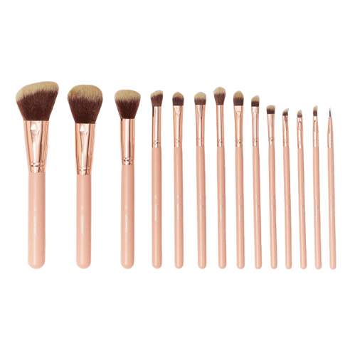 BH Cosmetics Makeup Brushes Set with Case - 14 Brushes