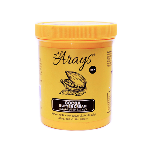 Al Arayes Cocoa Butter Natural Cream For Dry Skin 480 GM