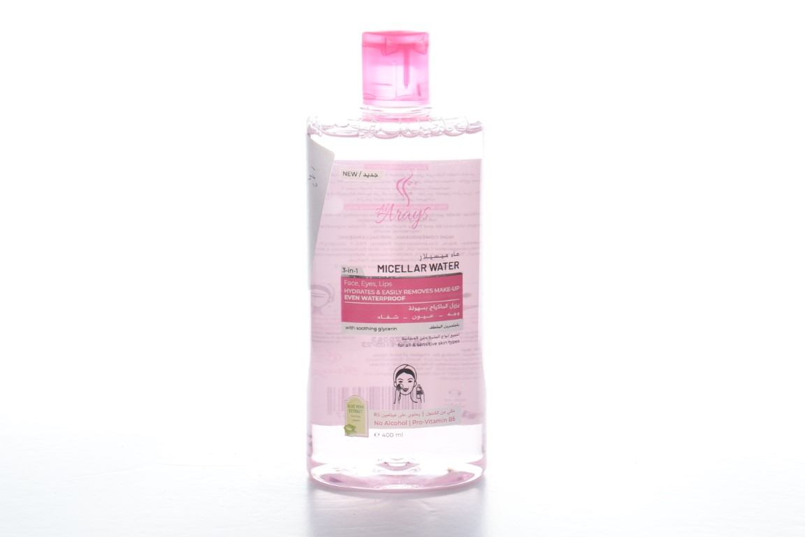 Arayes micellar water for all skin types 400 ml