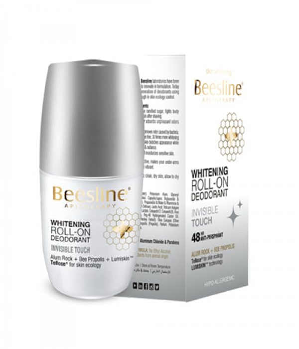 Beesline Deodorant Roll On Skin Lightening Invisible Touch 50ml