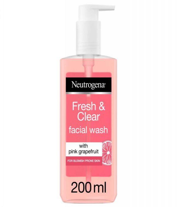 Neutrogena Fresh & Purifying Face Wash, Pink Grapefruit & Vitamin C, 200 ml