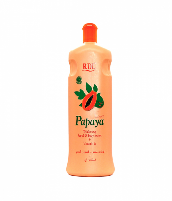 Whitening hand and body lotion with papaya extract - 600 ml