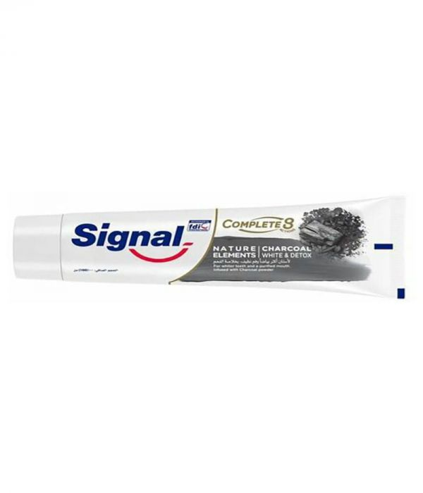 Complete 8 Charcoal Toothpaste White Blue Red 100 ml