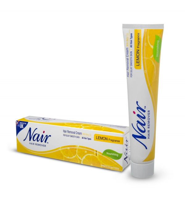 Nair hair removal cream with baby oil lemon scent 110 ml