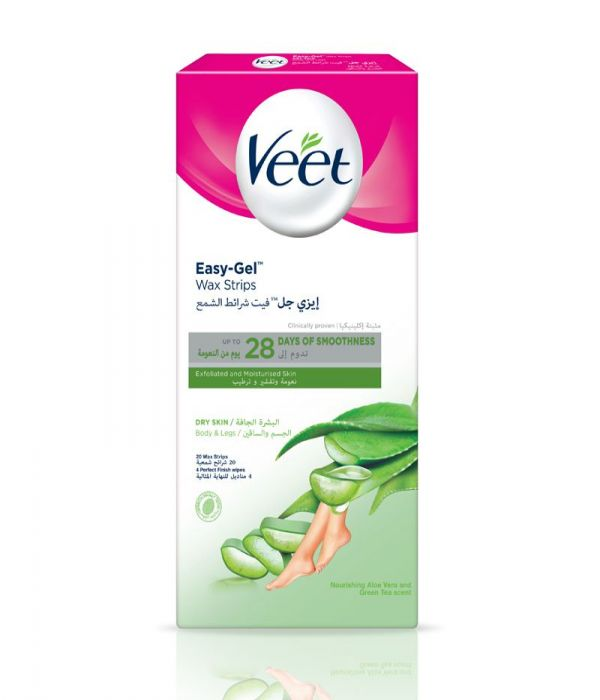 Cold Wax Strips For Dry Skin Hair Removal - 20 Strips