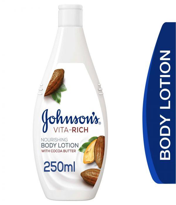 Johnson's Vita-Rich Body Lotion With Cocoa Butter 250ml