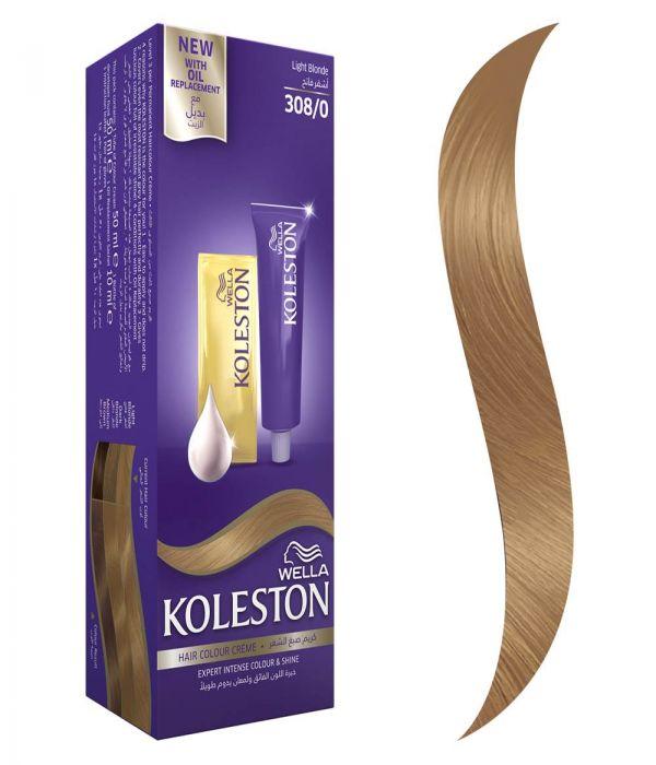 Koleston Hair Color Light Blonde + Developer 308/0