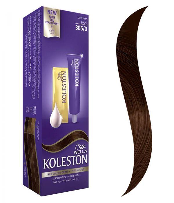Koleston Hair Color Light Brown + Developer 305/0