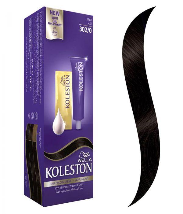 Koleston Hair Color Black + Developer 302/0