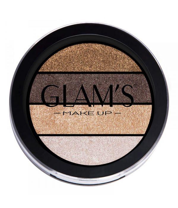 Glams Quattro Eye Shadow, Gold Addict 313