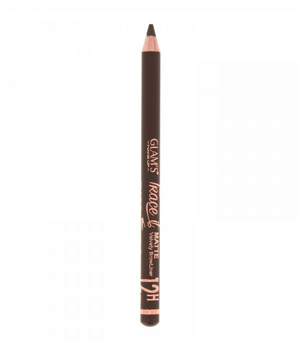 Glam's Trace it brow pencil, Deep Brown 798