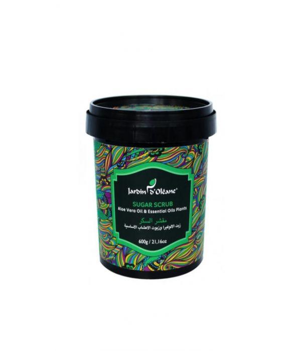 Garden Olean Sugar Scrub with Aloe Vera and Herbal Oils 600g
