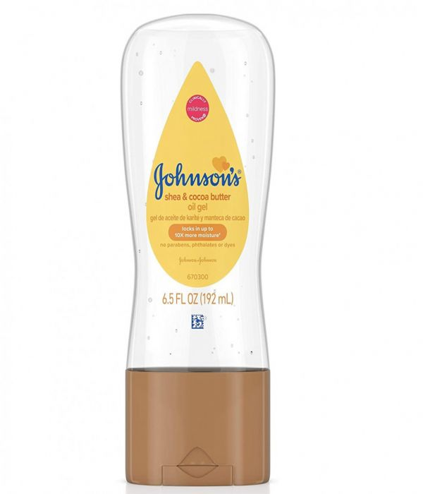 Johnson's Baby Oil Gel, enriched with Shea and Cocoa Butter